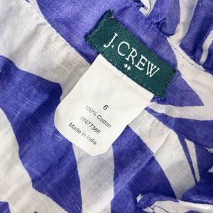 J. Crew Tops - J.Crew 100% Cotton Purple & White Fitted Top Sz 6